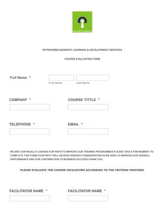 Service Evaluation Form