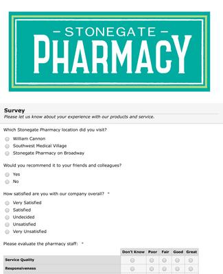 Pharmacy Service Satisfaction Survey