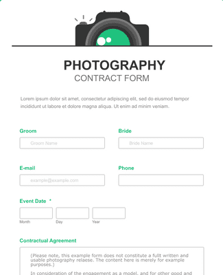 School Photography Contract