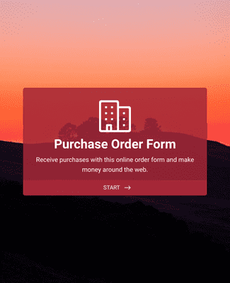 Product Purchase Order Form