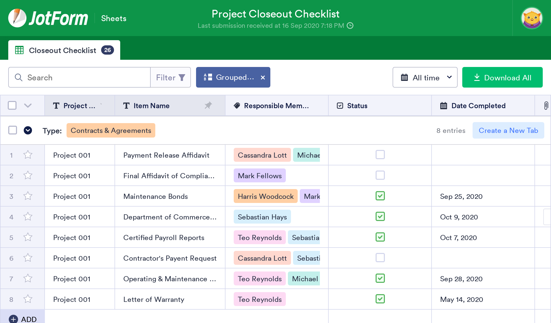 Project Closeout Checklist
