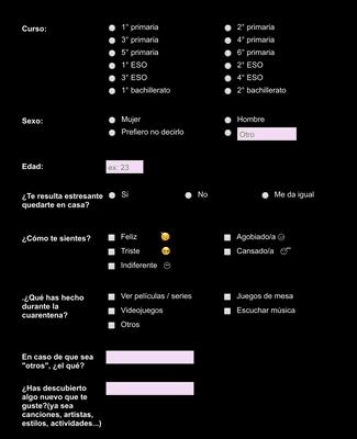 Quarantine Survey in Spanish