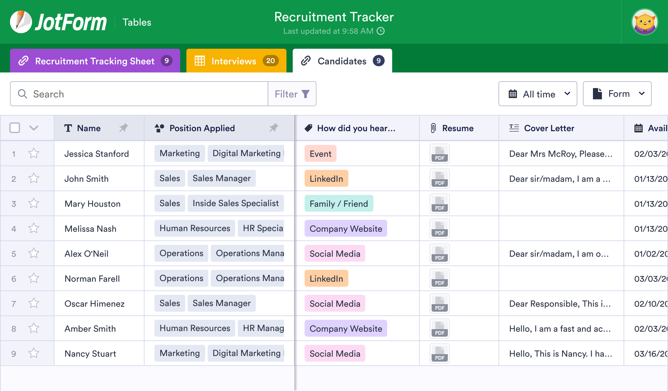 Recruitment Tracker