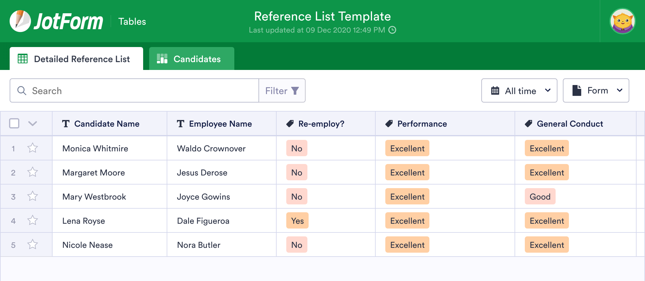 Reference List Template