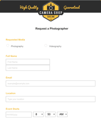 Request a Photographer