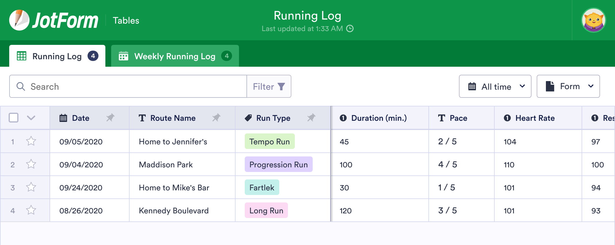 Running Log