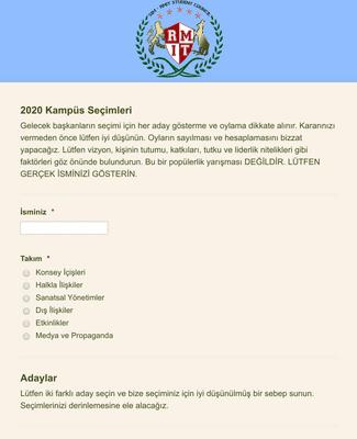 Sınıf/Kulüp Başkanı Seçim Formu