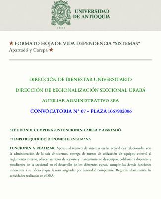 Solicitud de Beca Para Personal Administrativo Universtario