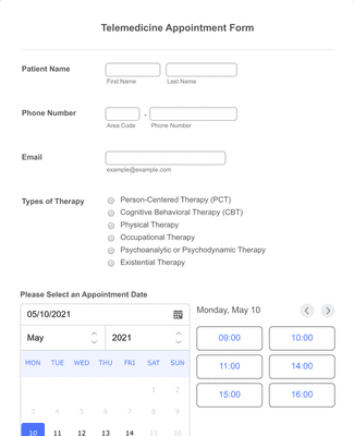Telemedicine Appointment Form