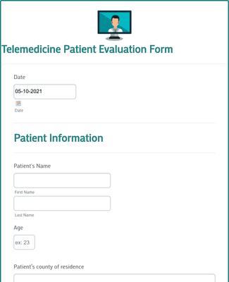 Telemedicine Patient Evaluation Form