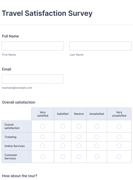 Travel Satisfaction Survey