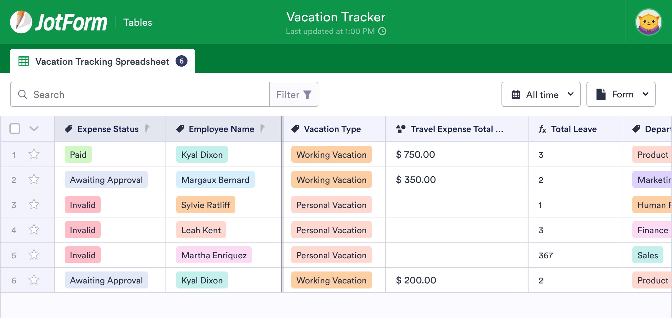 Vacation Tracker