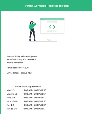 Virtual Workshop Registration Form
