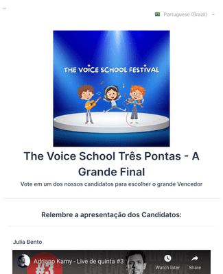 Votação Final - The Voice School Festival - Três Pontas