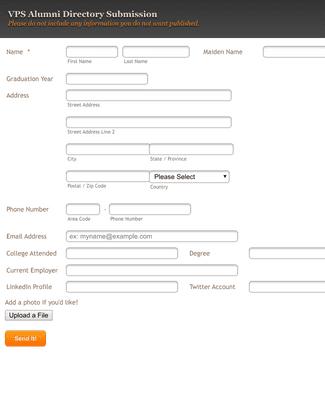VPS Alumni Directory Form