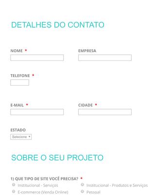 Web design - Pedidos