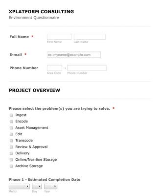 XPLATFORM Consulting - Storage Questionnaire