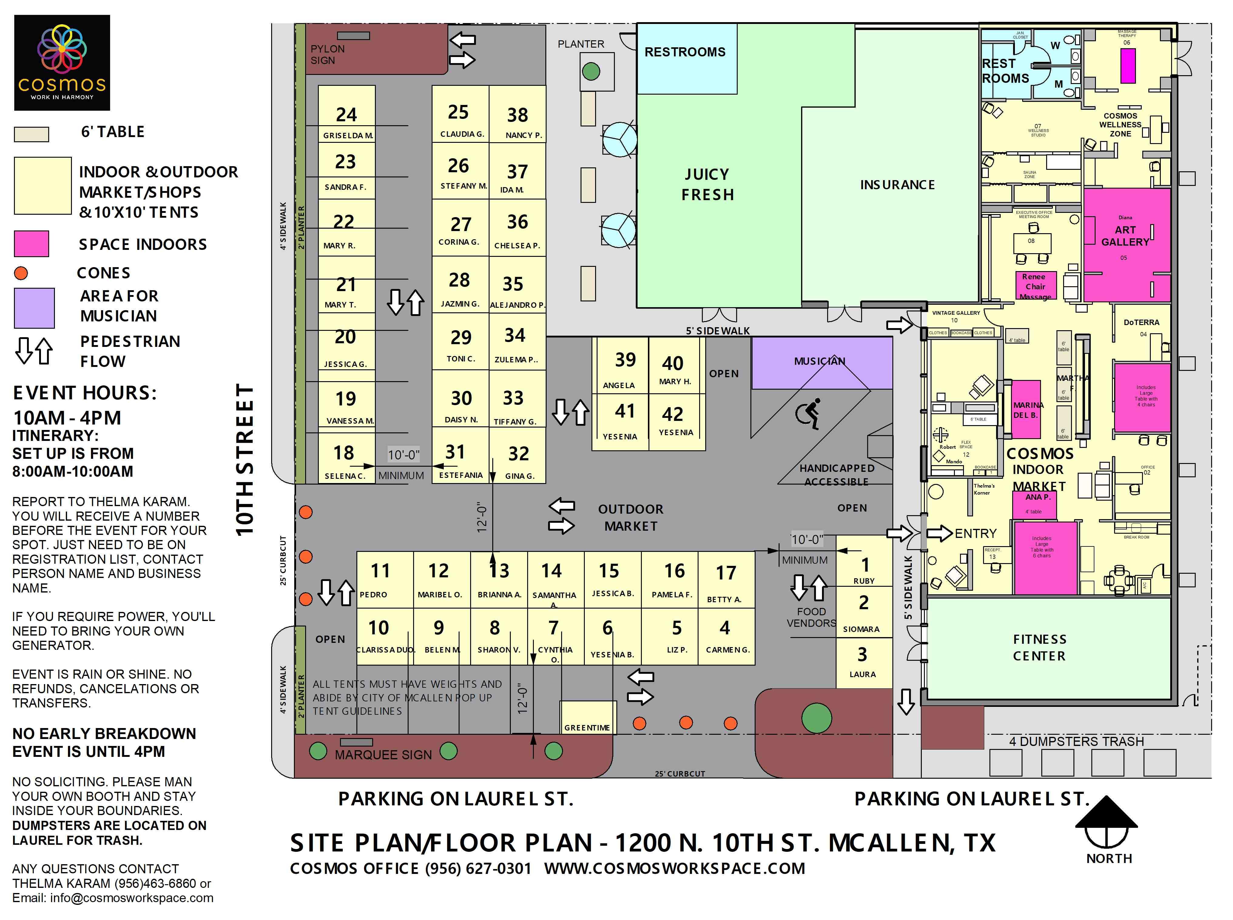 Sample Site Plan/Floor Plan
