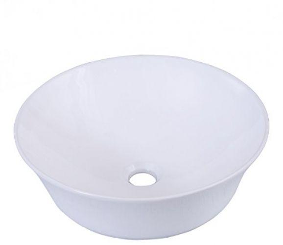 Round White Vessel Sink