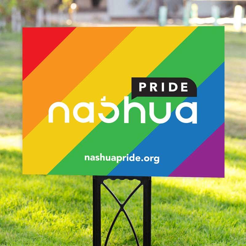 Nashua Pride Yard Sign