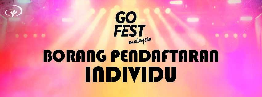 Go Fest Malaysia - Individual Registration Form