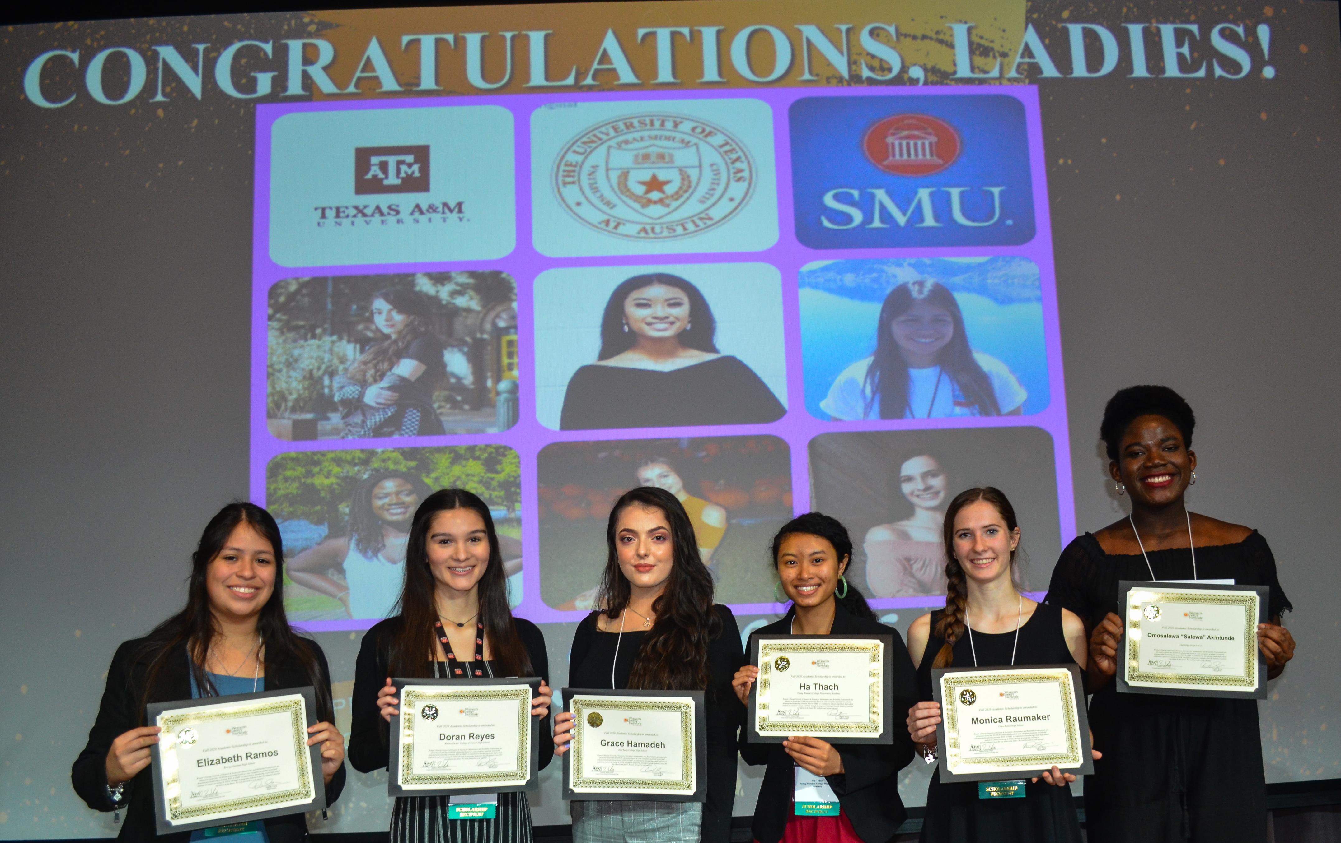 2020 YWE Scholarship Winners!