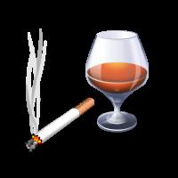 Necesito alcohol o tabaco para relajarme.
