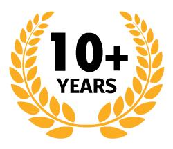 10+ years