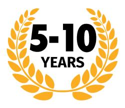 5 – 10 years