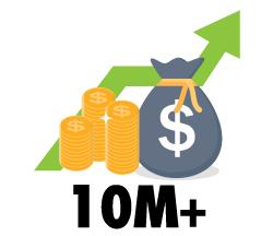 $10M+