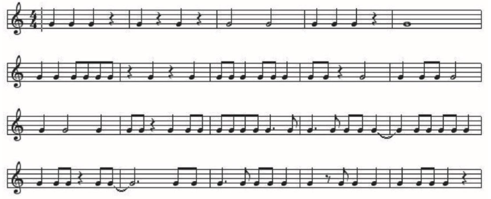 1. Rhythmic sight reading: Examples 1.1-1.4