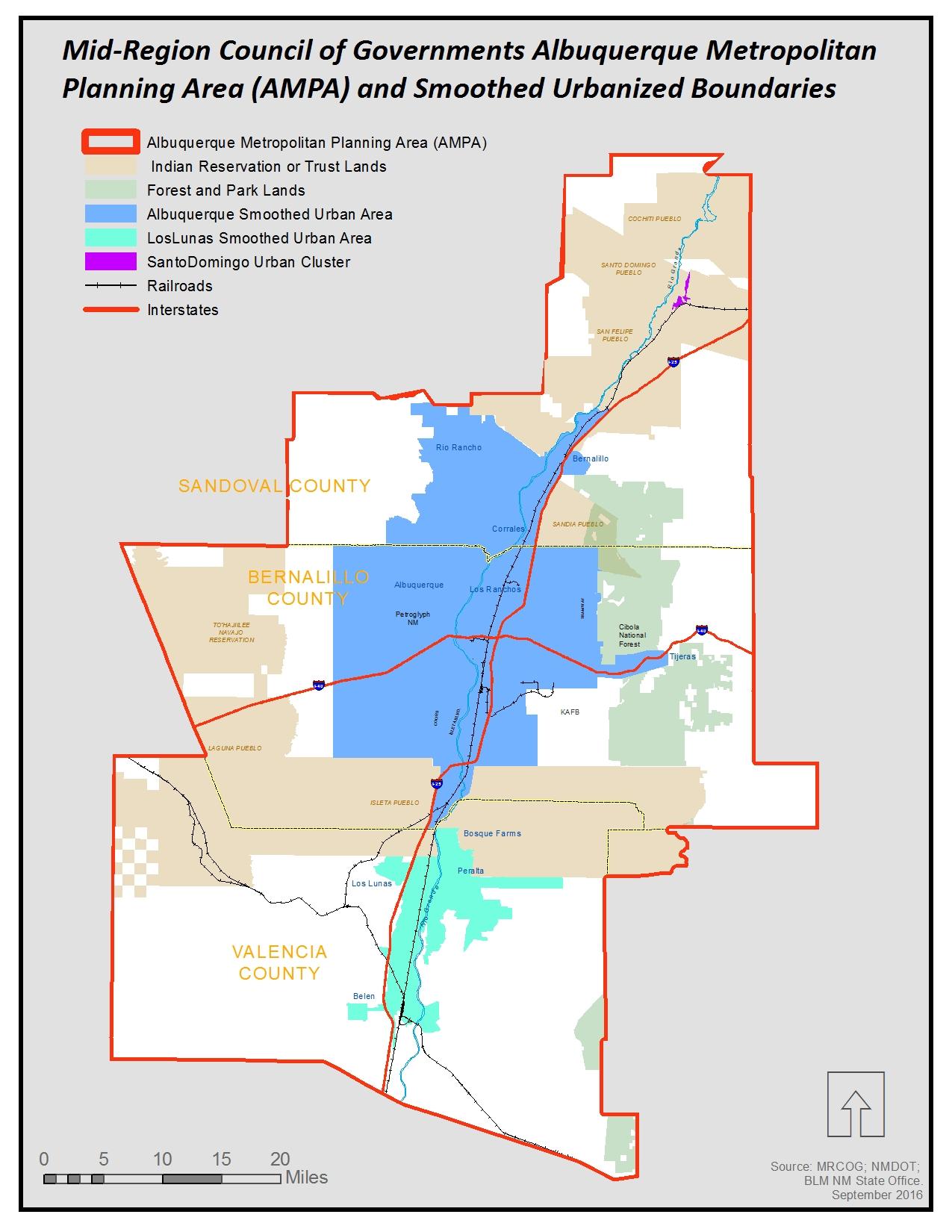 Albuquerque Metropolitan Planning Area (AMPA)