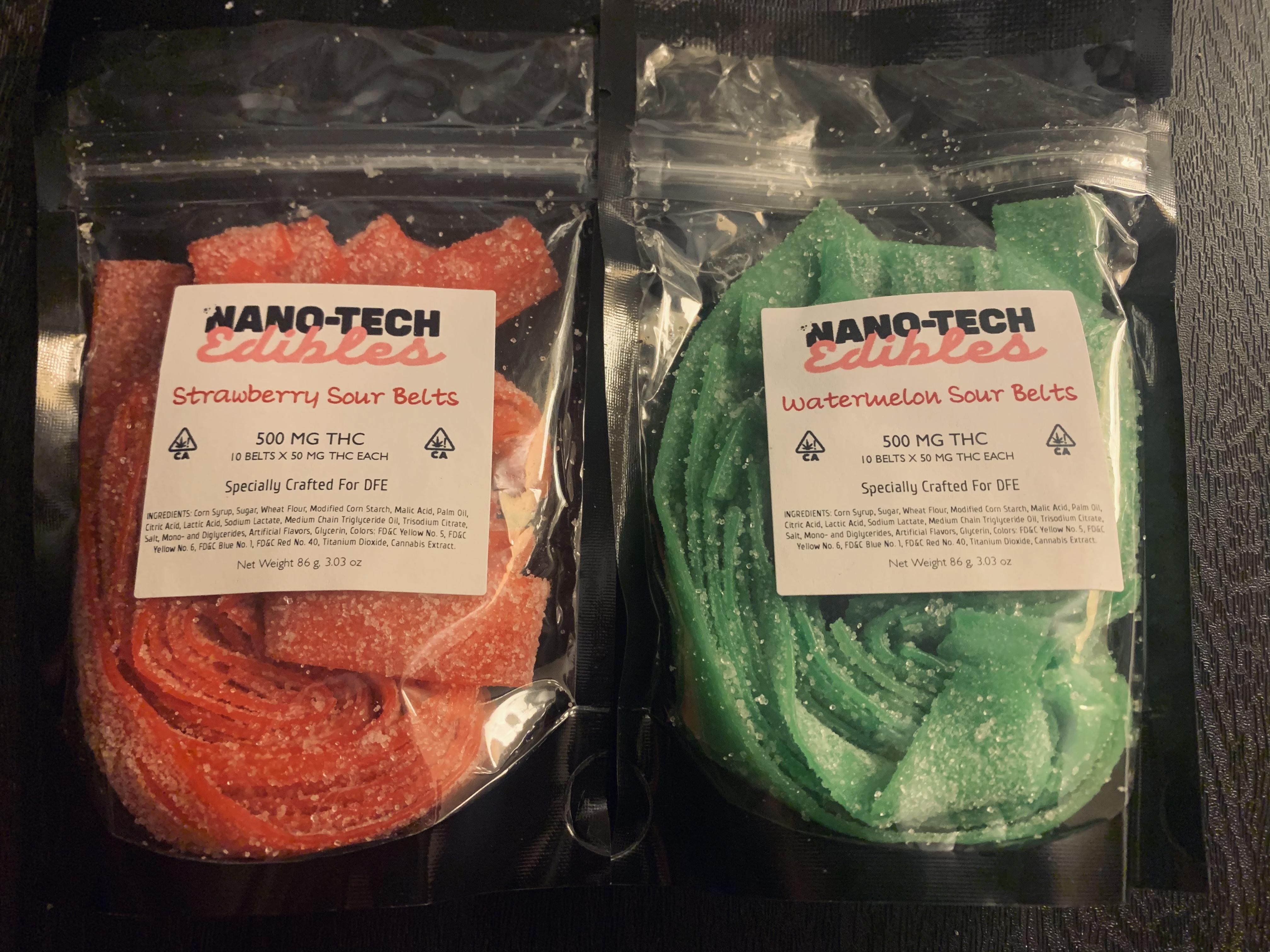 Nanotechnology Edibles: Sour Belts 500mg
