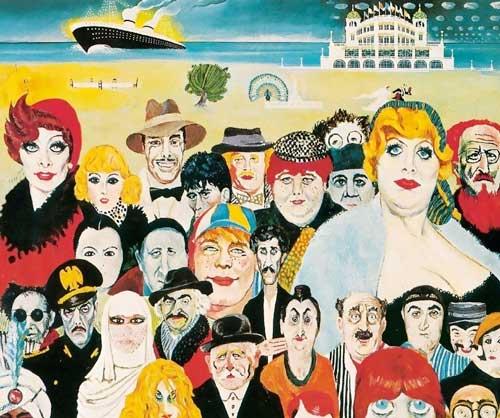 Tutte le Maschere di Fellini