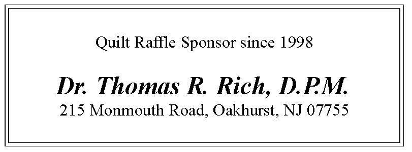 2021 Quilt Raffle Ticket Sponsor