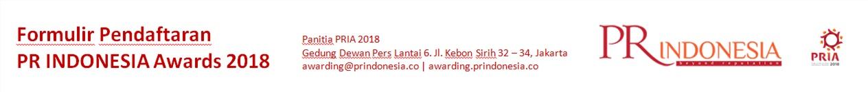 PUBLIC RELATIONS INDONESIA AWARDS (PRIA) 2018