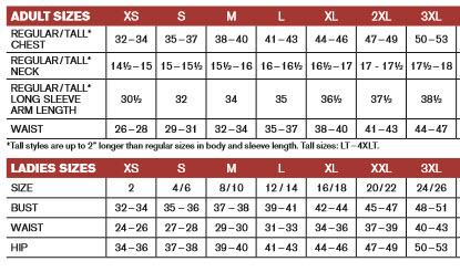 T--Shirt Chart Size