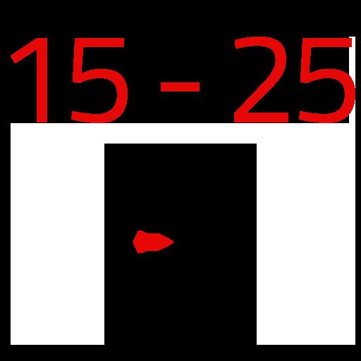 15 - 25
