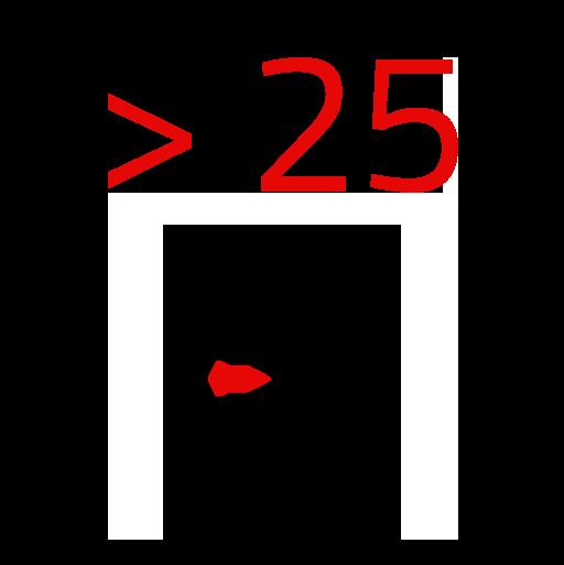 Mehr als 25
