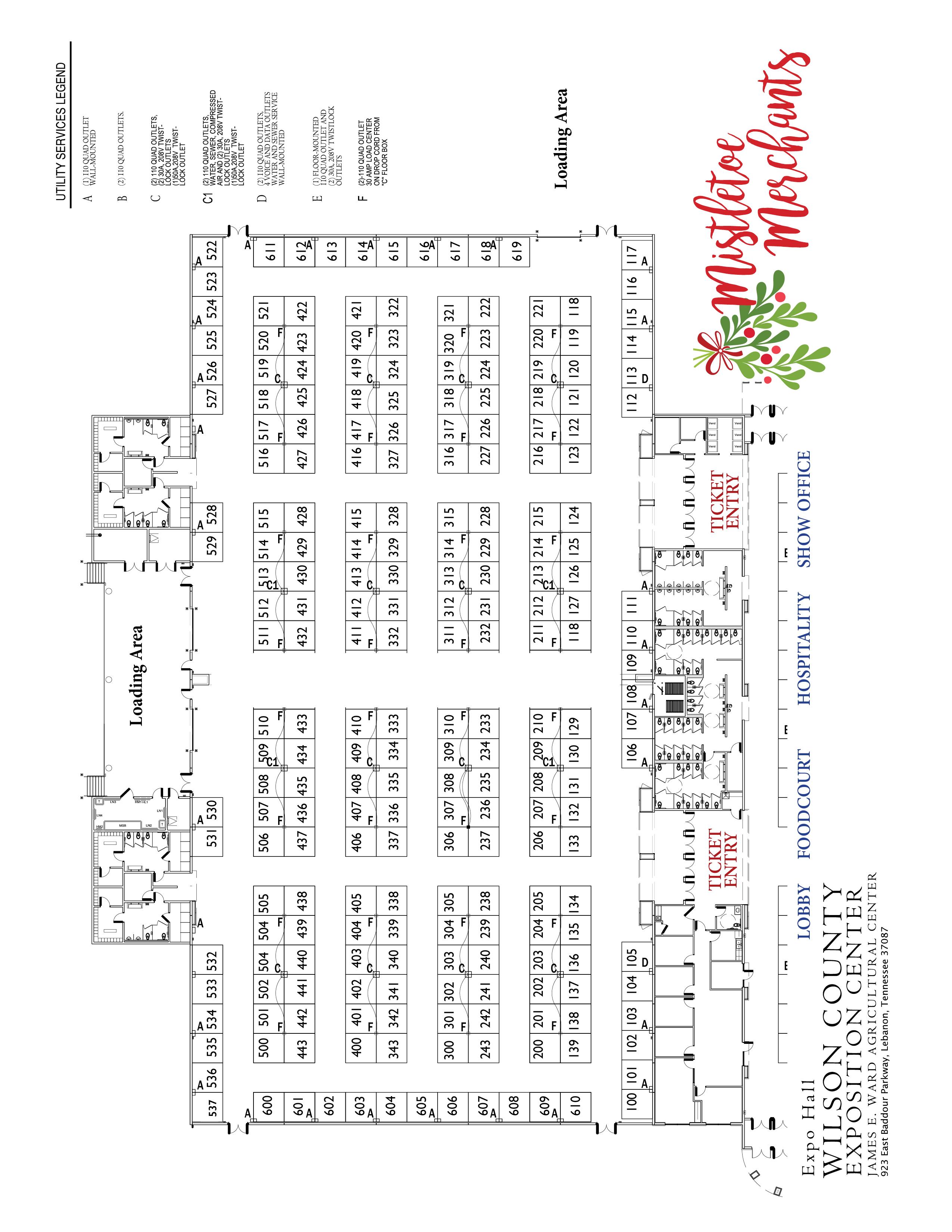 Mistletoe Nashville Map