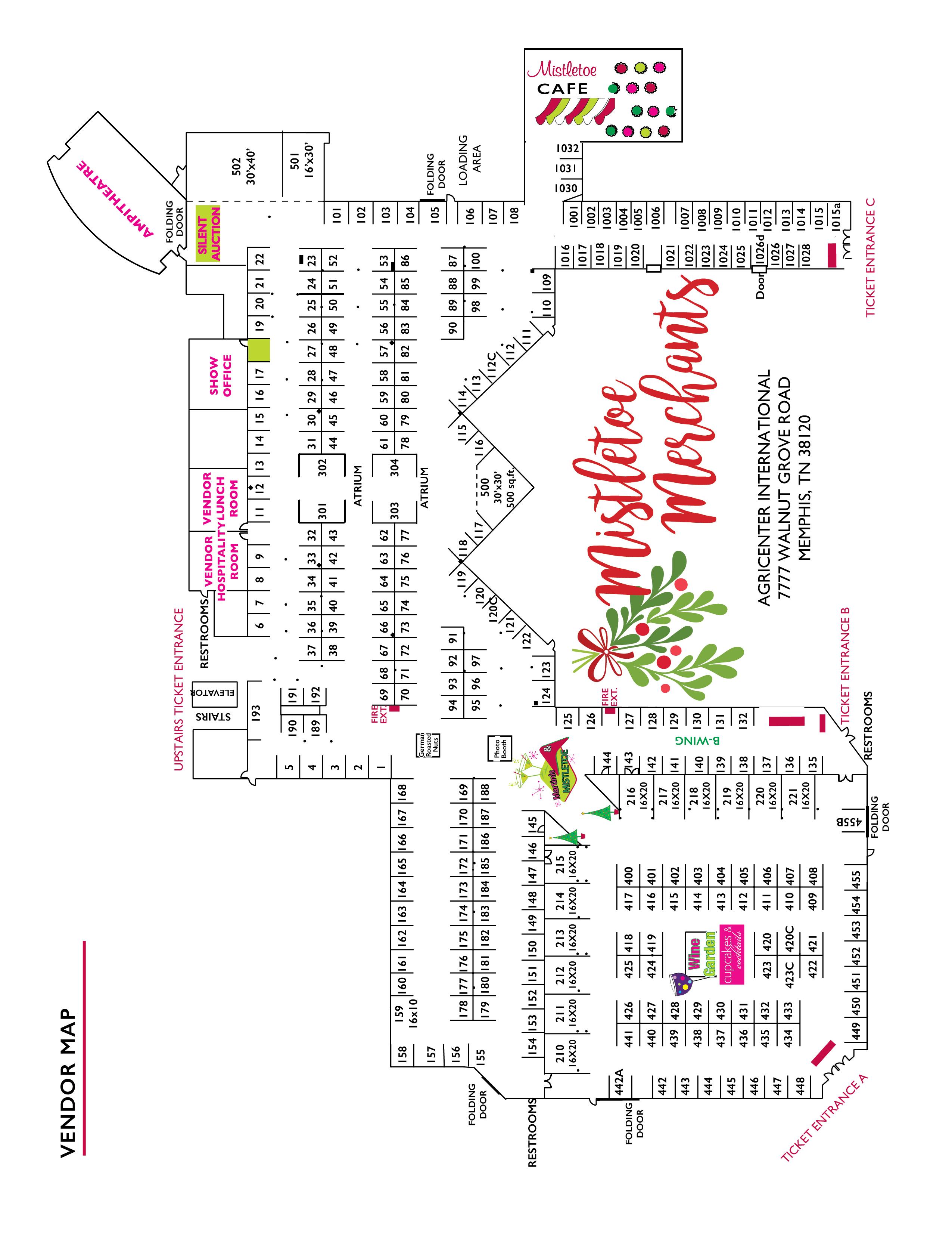 Mistletoe Memphis show map