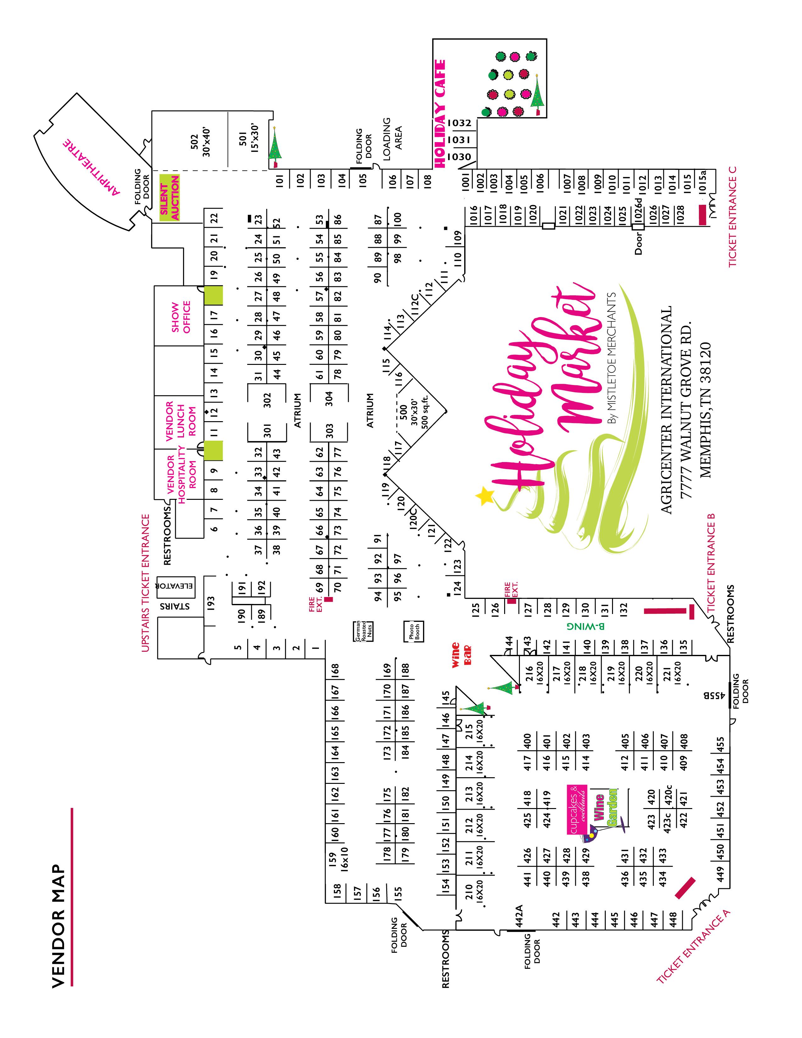 Holiday Market Memphis show map