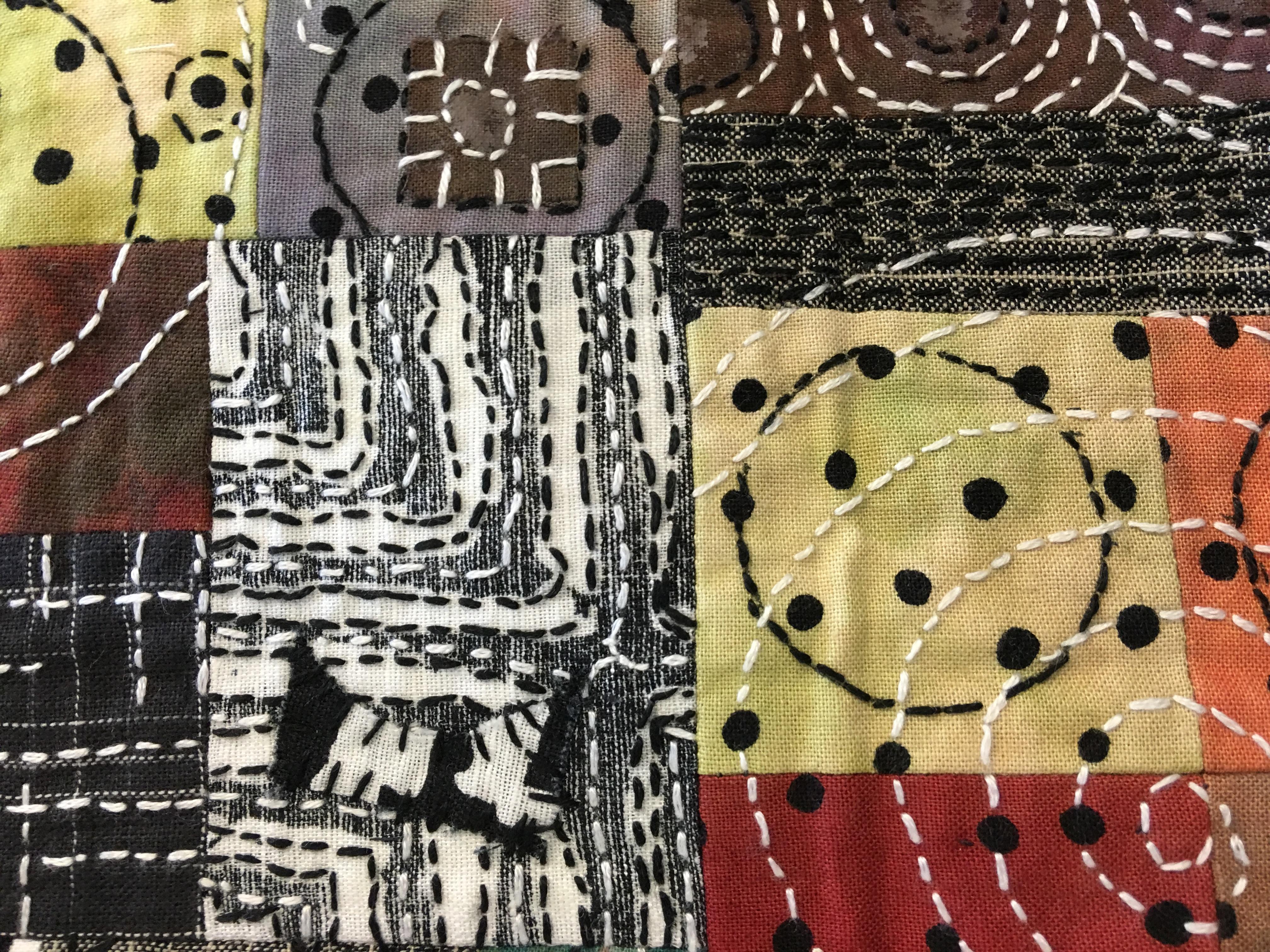 Image of Japanese boro needle work by Mary Ruth Smith