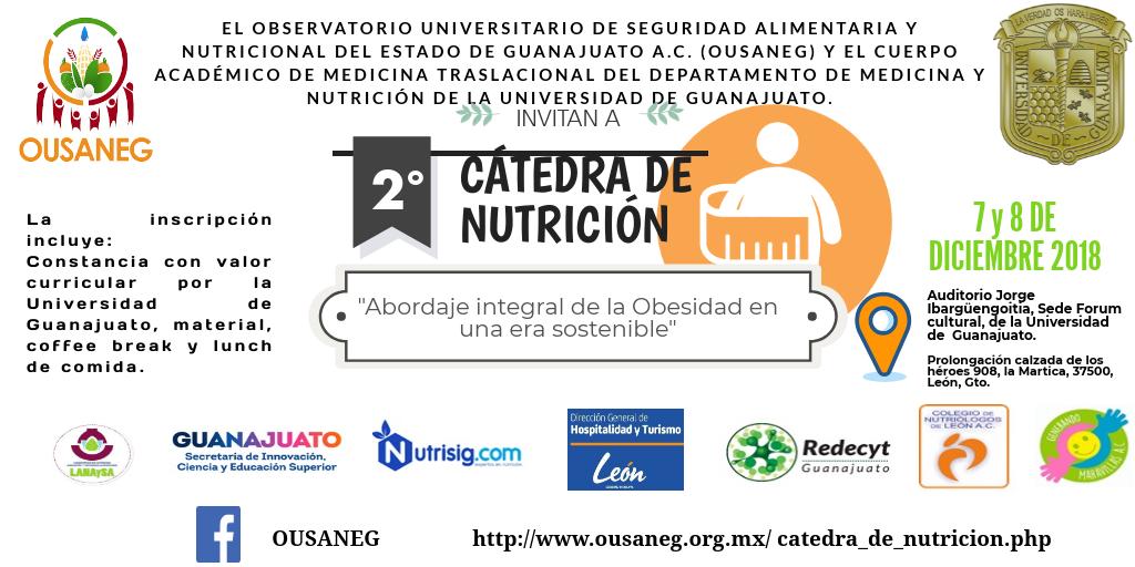 """2a Cátedra de Nutrición: """"Abordaje Integral de la Obesidad en una era sostenible"""""""