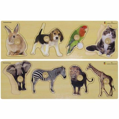 Large Knob Animal Puzzle 350-32230
