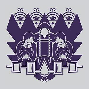 Purple design for T-shirt on Light Apparel