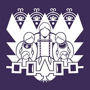 White design for T-shirt on Dark Apparel