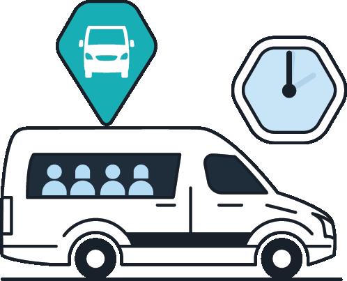 Ruta de transporte empresarial