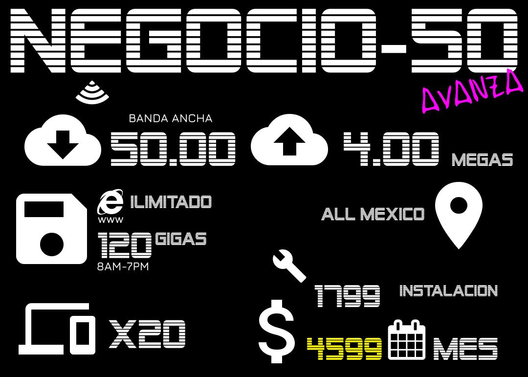 $4599 120 GIGAS A 50 MEGAS