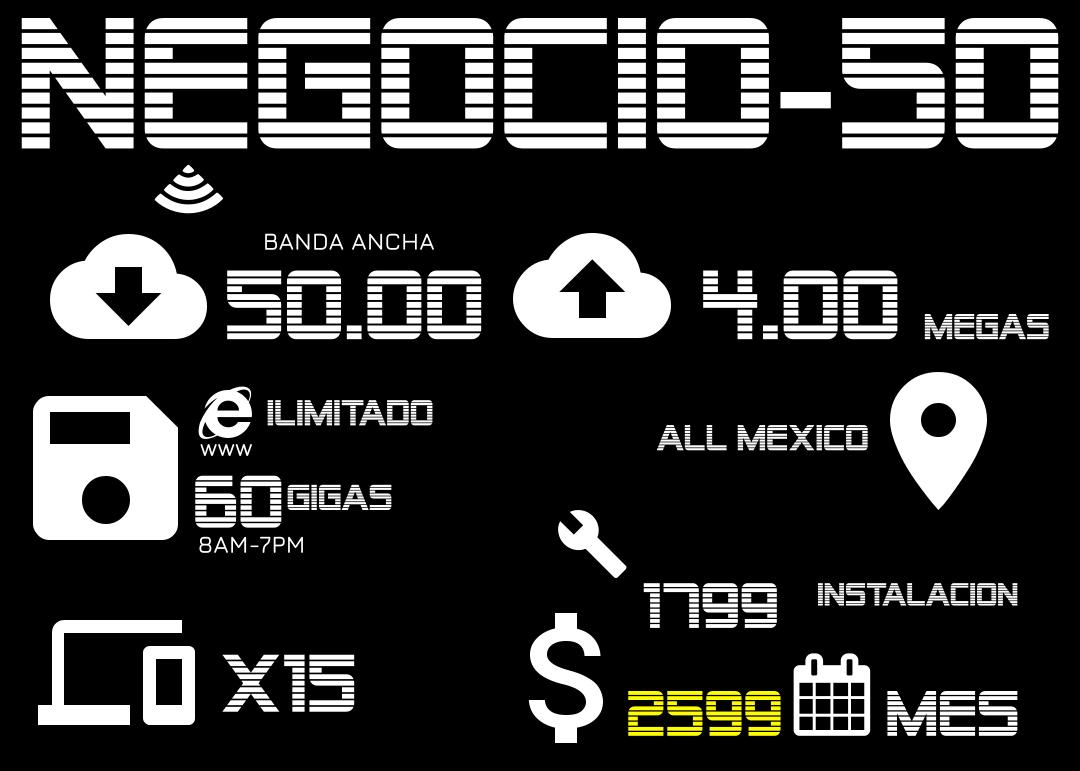 $2599 60 GIGAS A 50 MEGAS